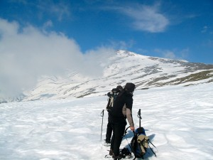 Snowshoeing on Mulhacen